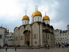 The Cathedral of the Dormition is a Russian Orthodox church located in the Kremlin