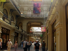 Interior view of the Moscow GUM (there are about 200 stores displaying merchandise with extortionate prices)