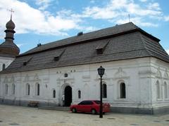 Gigantic white church, St. Michael's courtyard
