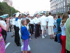 A street party on Kreschatik Street