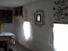 Stenciled cottage interior, Pirogovo