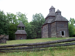 19th Century Wooden Church, Pirogovo (over 300 pieces from all over Ukraine have been painstakenly restored here on the 370 acre open air museum)