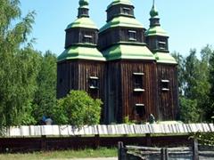 Traditional wooden church, Pirogovo