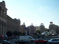 Independence Square is Kiev's most central square, surrounded by shops, cafes, hotels and administrative buildings