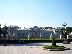 The Baroque style Mariyinsky Palace, the official residence of the President of Ukraine