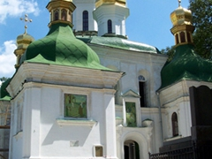 View of the Church of the Saviour at Berestov; Kiev Monastery of the Caves
