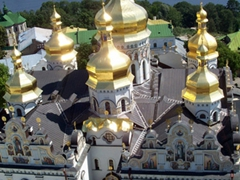 View over Dnieper River, Kiev Monastery of the Caves complex