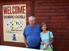 Bill and Laverne at the Montenegro border crossing