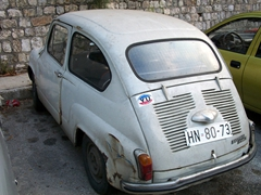 Local car with former Yugoslavia sticker