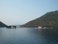 Saint George and Our Lady of the Reef Church, two islands off Perast in the Gulf of Kotor