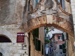 Interesting archway in old town Kotor