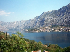 View of Kotor from across the bay