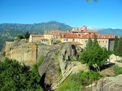 This is the only of the Meteora monasteries visible from the town of Kalambaka. St Stephens is currently a nunnery, and one of the easiest of the monasteries to visit