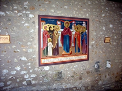 Religious painting on a wall at St Stephen Monastery
