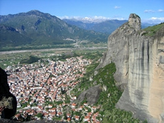 View of Kalambaka from the top of Meteora