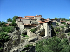 The 14th Century Holy Monastery of Great Meteoron is the largest of all the monasteries located at Meteora