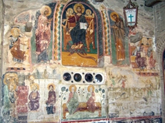 Frescoes in the Church of the Transfiguration; Great Meteoron Monastery