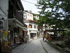 A view of Makrinitsa's enchanting cobblestoned streets