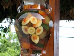 Preserved fruit for sale; Makrinitsa