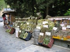 Herbs for sale in touristy Makrinitsa