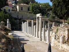 Columned remains of the Roman Agora