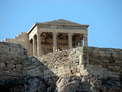 The Erechtheion's eastern porch (the six Ionic columns once contained an olive-wood statue of Athena)