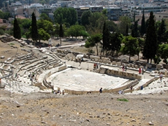 Unbelievably, only a fraction of the Theatre of Dionysos has been uncovered!