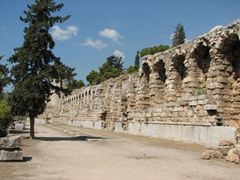A view of the Stoa of Eumenes (links the Odeon of Herodes Atticus to the Theatre of Dionysos)