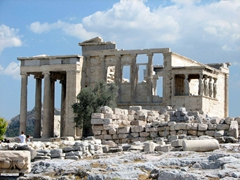 View of the ancient Greek temple Erechtheion