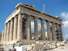 The Parthenon is currently undergoing renovation, but will look incredible upon completion