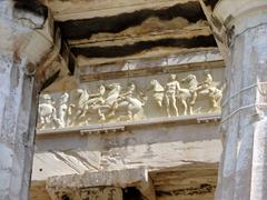 Detail of an original frieze on the amazing Parthenon
