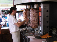 Delicious pork and beef gyros stands; Monastiraki