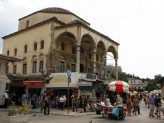 The view outside of Monastiraki metro station