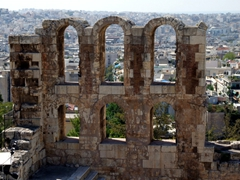 The Herodes Atticus theatre (where nightly concerts are performed)