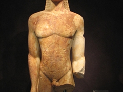 Ancient statue on display at the Oberlaender museum