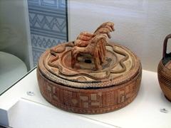 Unique pottery on display at the Oberlaender museum; Kerameikos