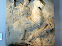 A funerary monument at the Oberlaender museum