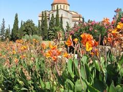 Garden view at the Kerameikos Tombs