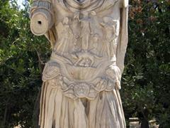 A larger than life bust of Roman Emperor Hadrian; Ancient Agora