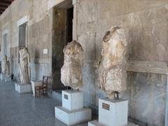 The exterior of the Stoa of Attalos; Ancient Agora