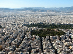 View over Athens from Mount Lykavittos