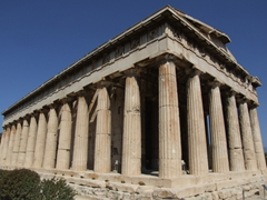 The perfectly preserved classical temple of Hephaesteion; Ancient Agora