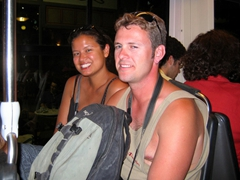 Becky and Robby riding on Bus No 904 towards Zea Marina; Piraeus