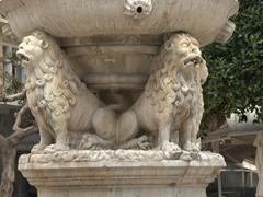 Lion detail on the Morosini Fountain at Plateia Venizelou, Heraklion