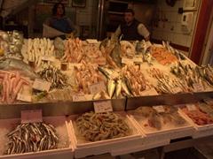 Heraklion's seafood market