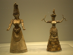 Figurines of the Minoan Snake Goddesses