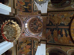 Ceiling view of the Cathedral of St Minas (patron saint of Heraklion)