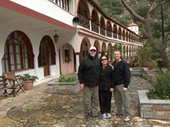 Striking a pose at Agios Georgios Selinari monastery