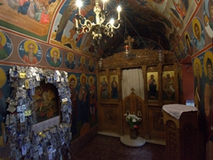 Interior view of a church at St George's Selinari monastery