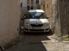 Robby does a fine job navigating Kritsa's narrow roads